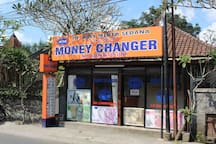 in front of the house there is also a place to exchange money so it is not difficult to look for money exchange again and guaranteed legal license