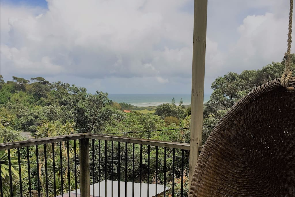 View of Muriwai Beach from Lounge Deck