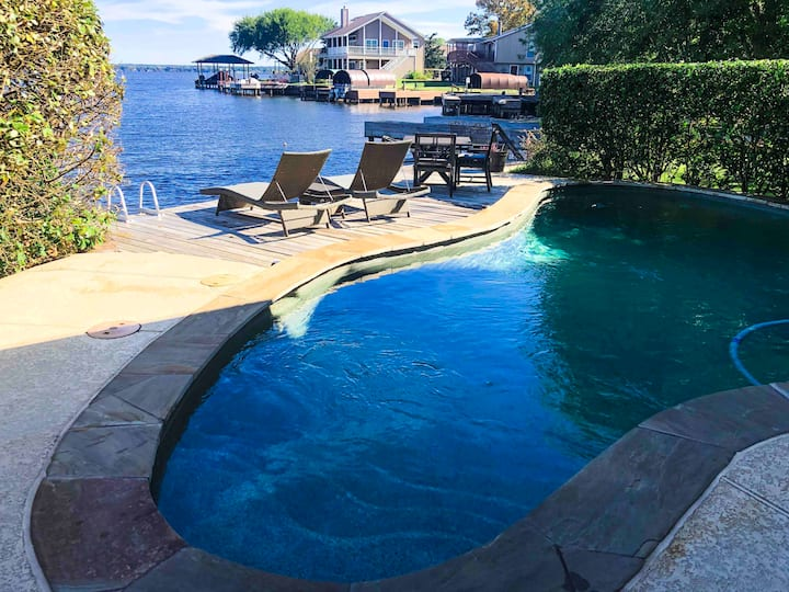 Relaxing Lakefront Escape w/ Private Pool &  Spa