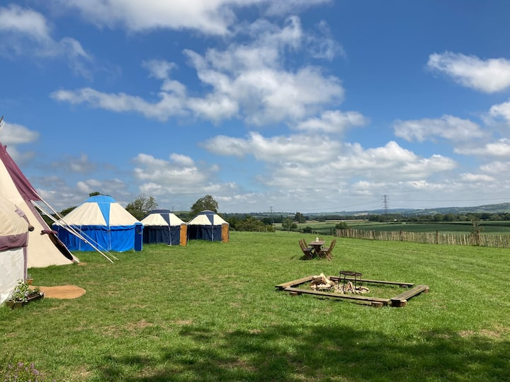Exclusive Tipi & Yurt Camp. Pilton, Glastonbury