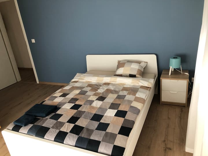 Bedroom with private Bathroom 5min Basel Airport3