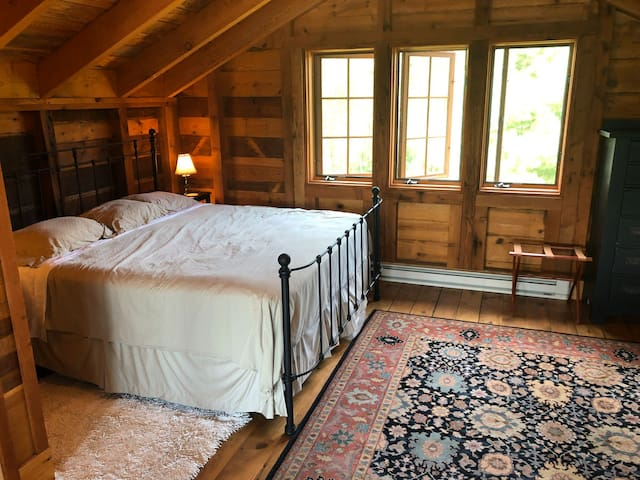King bed in loft
