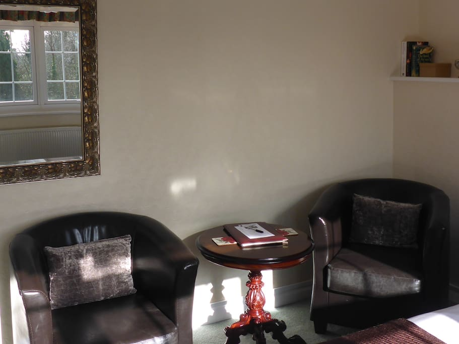 Sitting area for double room