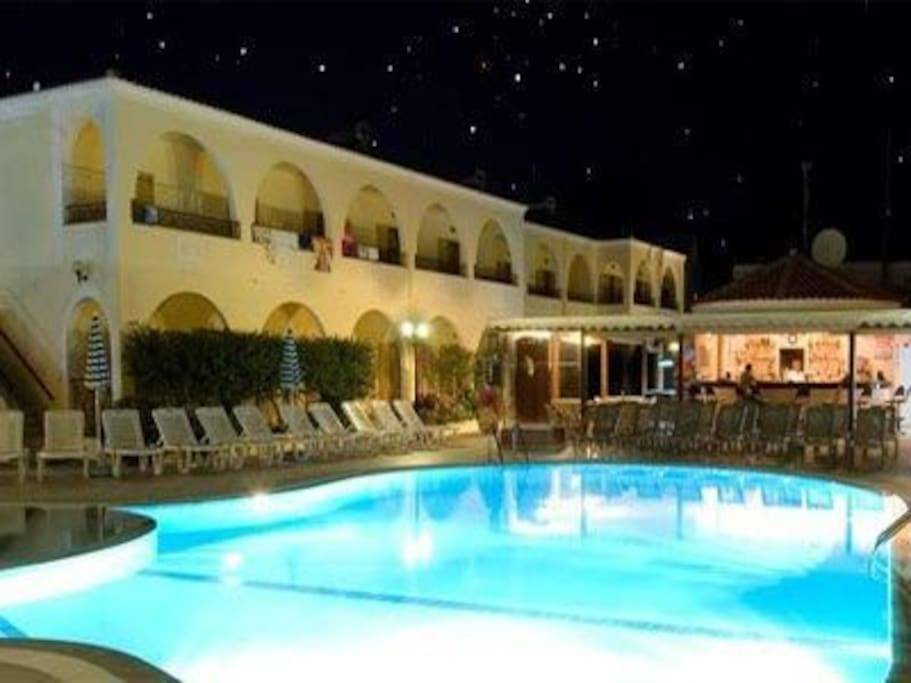 Pool That you can use in Kavos Town , 5 minutes walk.