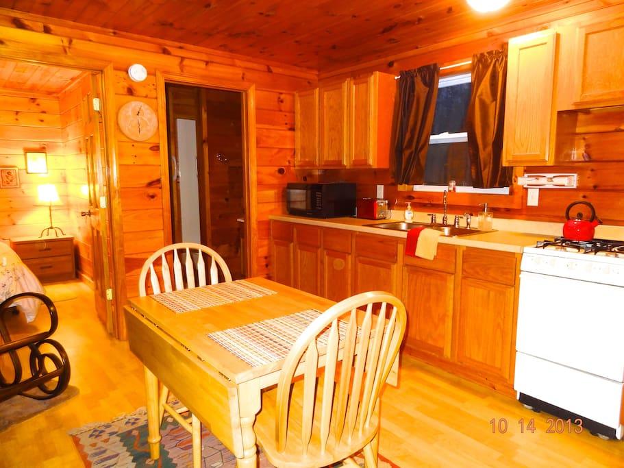 Open floor plan with living room/full kitchen