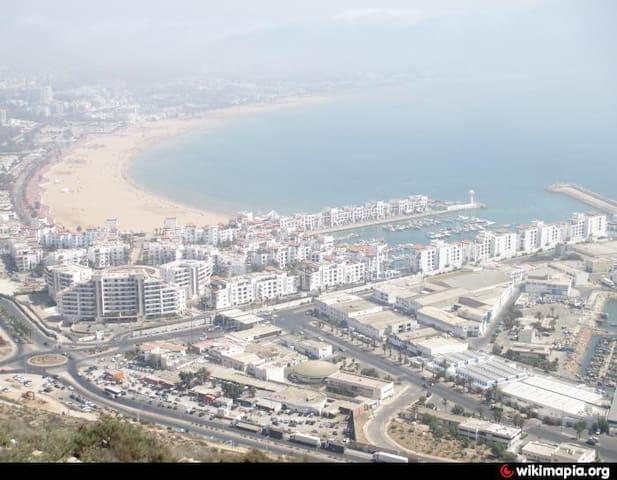 Marina, agadir , at the beach , free pool - Agadir - Apartment