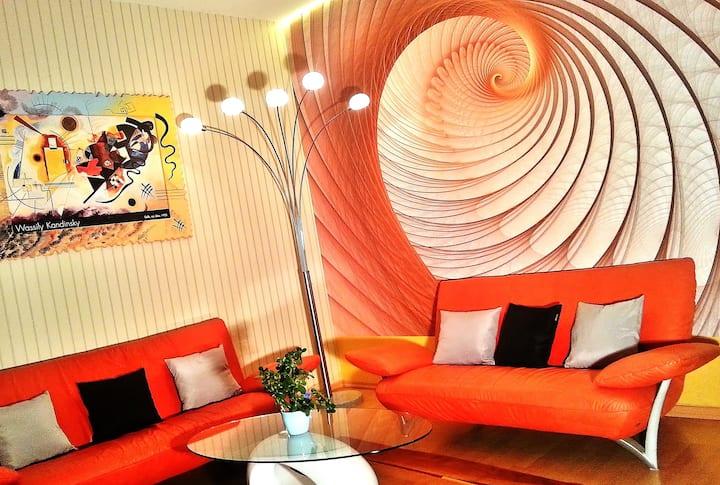 INcity Living 52qm & Küche 2 Zimmer Langzeitmiete.