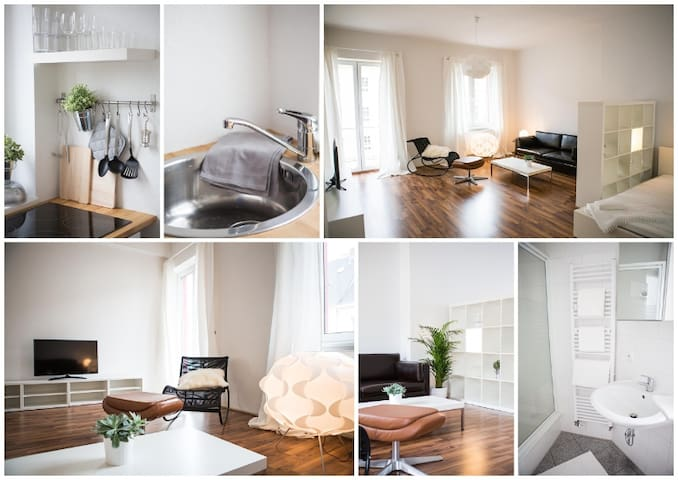 Loft with balcony  - Düsseldorf - Appartement