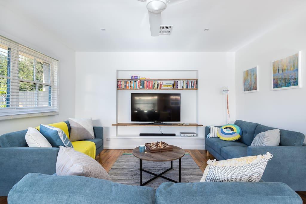 light filled lounge