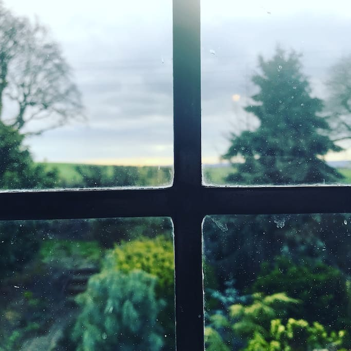 Beautiful view of the south downs from the cottage window