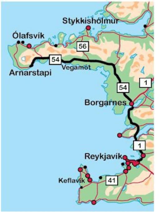 The way to Arnarstapi (all on asphalt road)