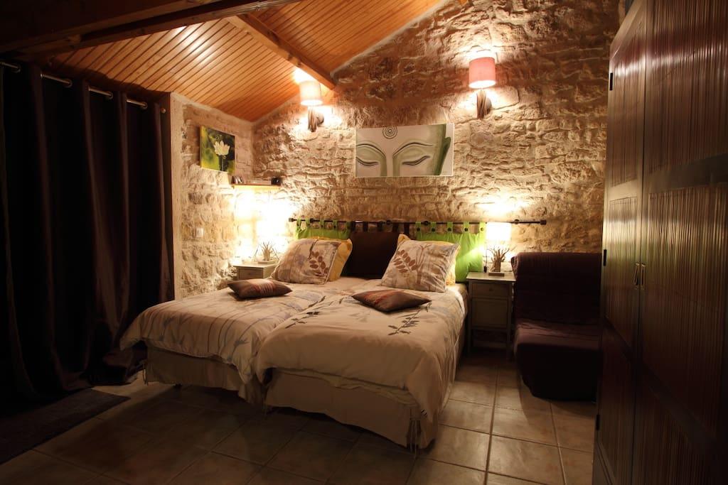 Chambre Natura avec deux lits individuels - 77€/nuit-2pers