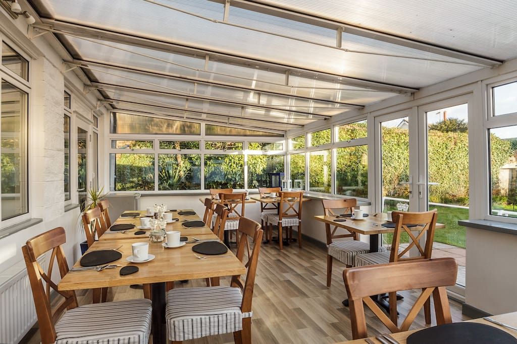 Our delicious breakfast's are served in the conservatory.