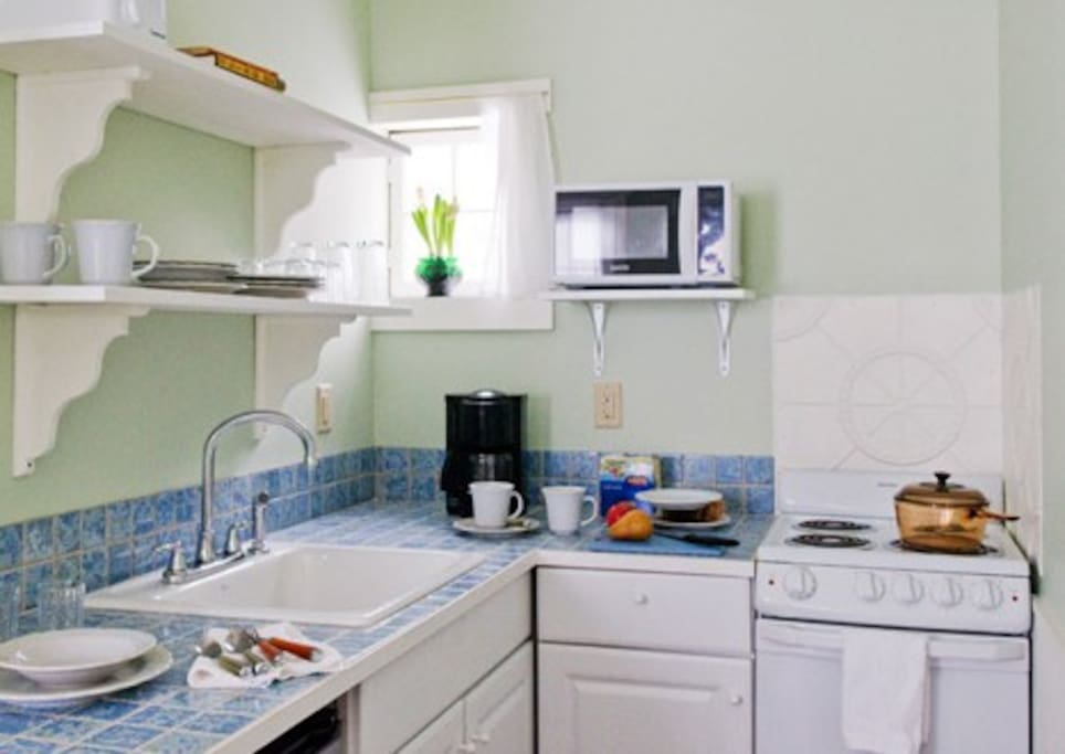 Fully equipped kitchen will be stocked with locally sourced foods so you can take breakfast at your leisure.