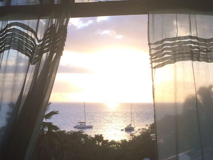 Caribbean beachflat/stunning view!
