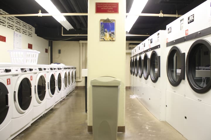 There are laundry services available in the building.