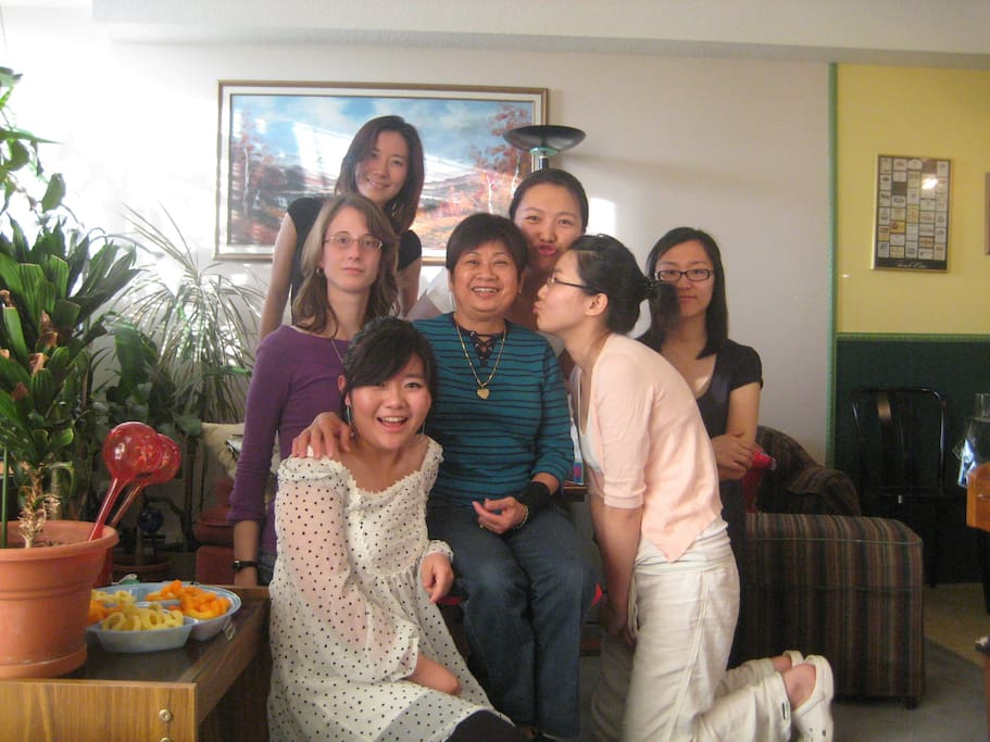 My former homestay students.  I am still in contact with some of them