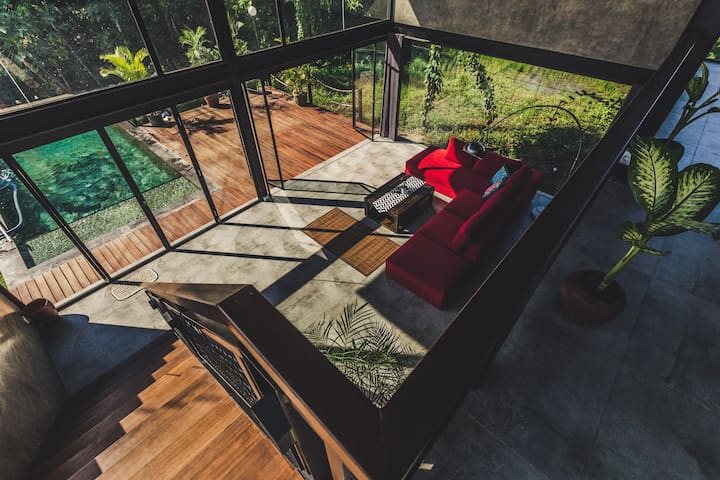 2-BR Suite in a Loft - Amazing View - Ubud
