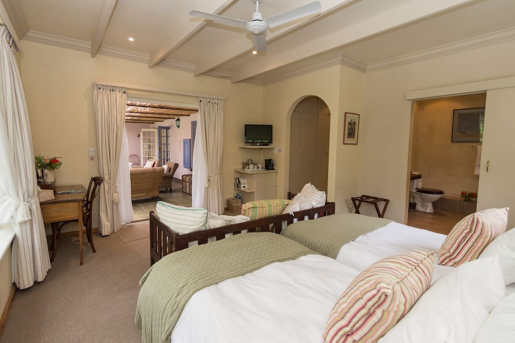 Verandah Room, has a sleeper couch for child and a walk in shower.