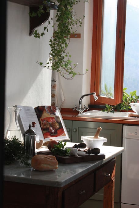 Luminous, fully equipped kitchen