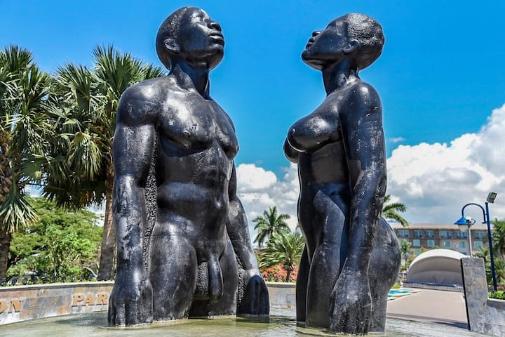 Statues at Emancipation Park