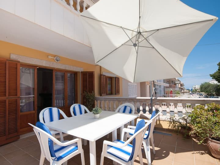 Ob3: 3 bedR Ground floor apartment near the beach