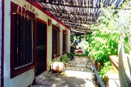 Our beautiful private villas are quietly tucked away and surrounded by our organic fruits and veggies growing all about. We are just near the beach and it is amazing the wonderful fresh air breezes.  We are completely wheelchair accessible.