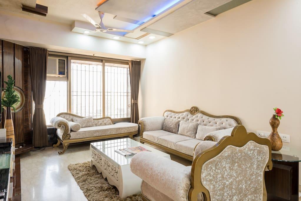 Living room - Level 1 of the duplex apartment