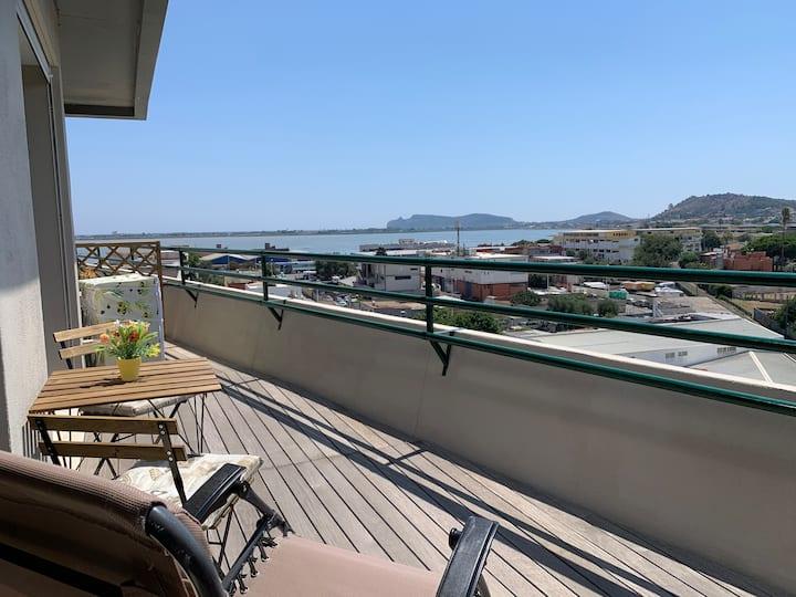 Panoramic Sport Apartment vista Città di Cagliari
