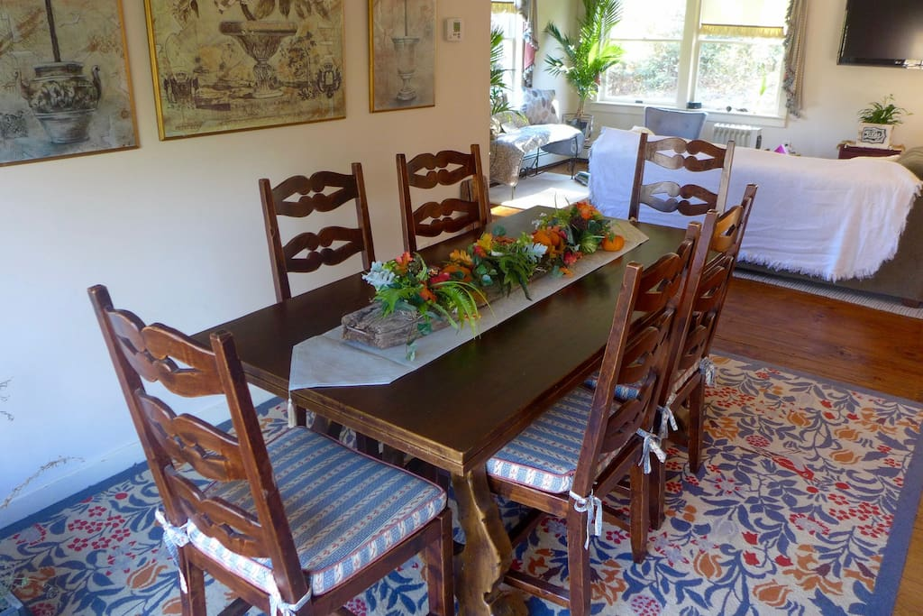 Dining table with plenty of seating