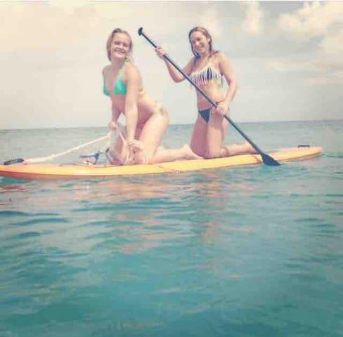 paddleboard and kayak for use