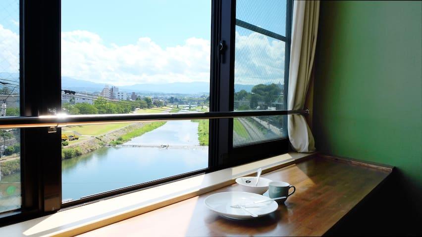 center of kanazawa/restaurant area/free wifi - Kanazawa-shi - Daire