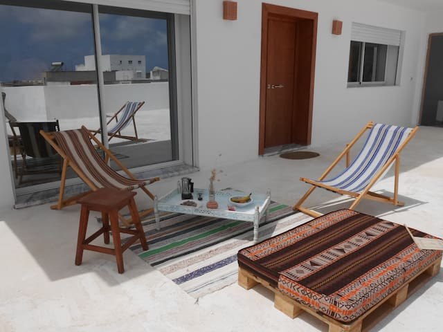Nice appartment with a terrace - Kelibia - Leilighet