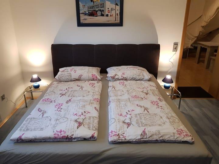 Wohnung auch für Wochenendheimfahrer und  Monteure