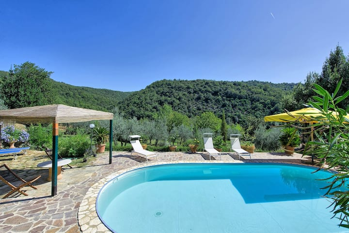 Bigiolo a Melazzano - Holiday Country Villa with swimming pool in Greve in Chianti