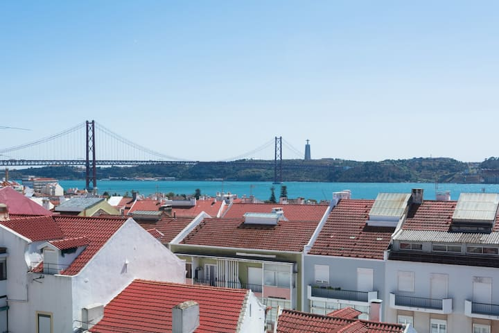 Panoramic terrasse view apartment Ajuda Belem