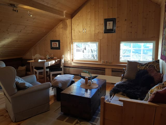Cozy loftstudio on a farm in Lillehammer