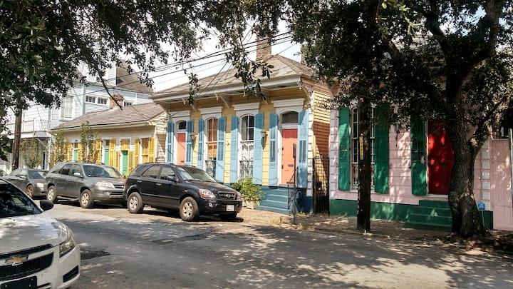 A vibrant and colorful neighborhood