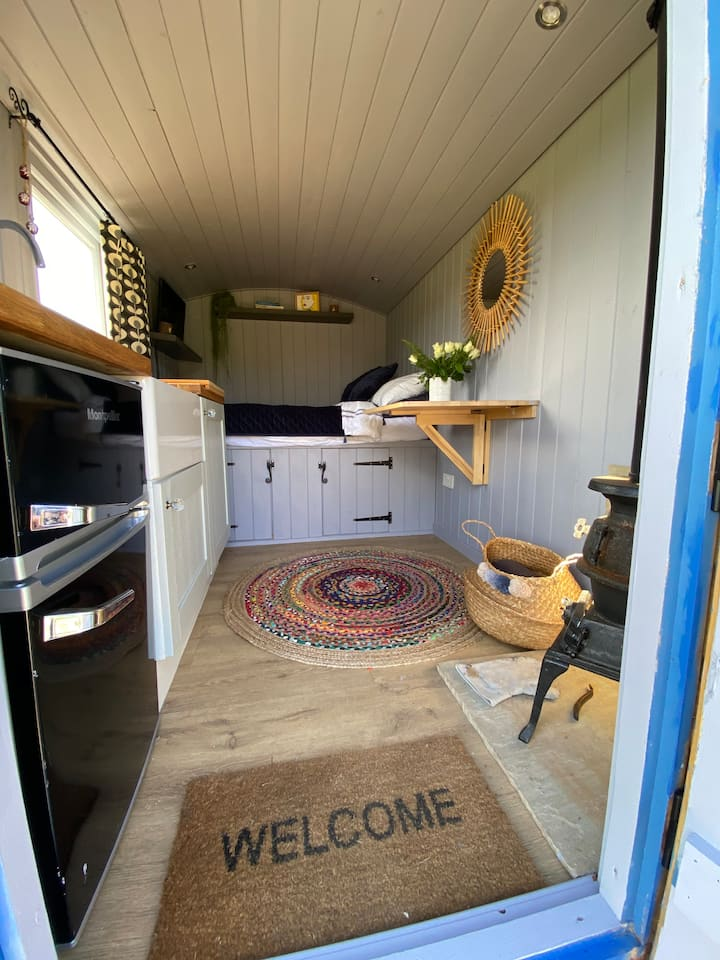 Shepherds Hut for intimacy and spectacular views