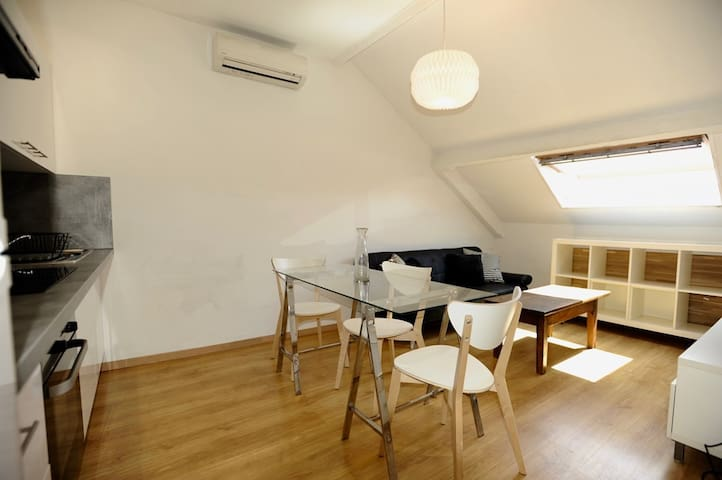 Very cosy one bedroom attic in the center of Nice