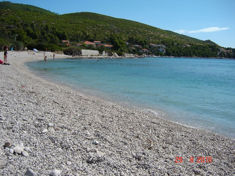 Beautiful beach 100m from the house
