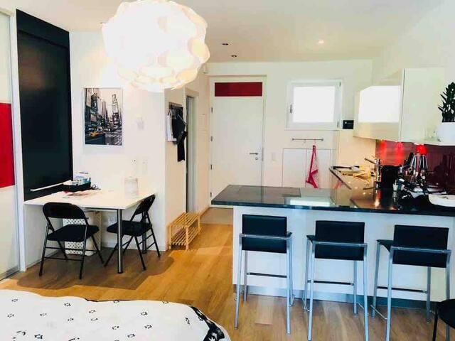 Modernes Apartment mit Sonnenterrasse und Pool