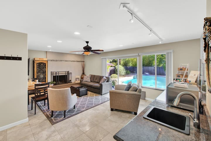 Family room and private entrance