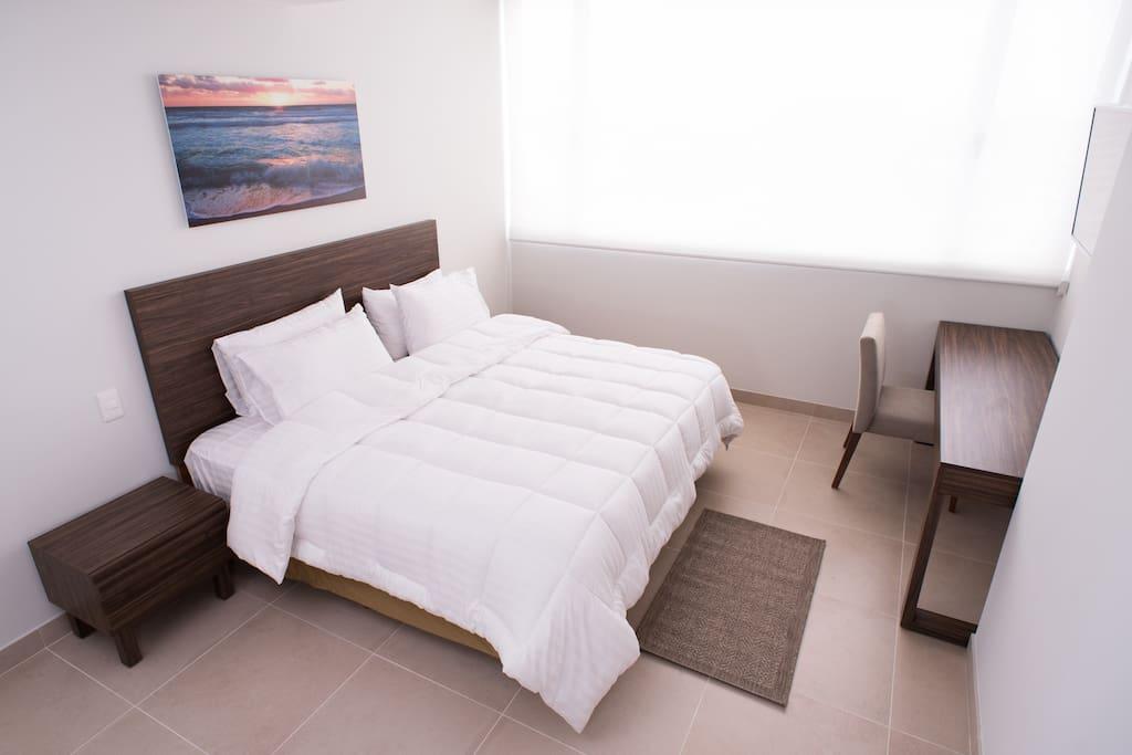 master room con cama king size