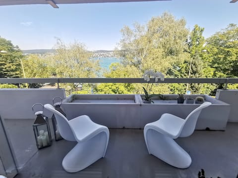 Designer apartment with lake view and access