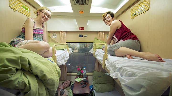 Soft Sleeper train Hanoi to Hue