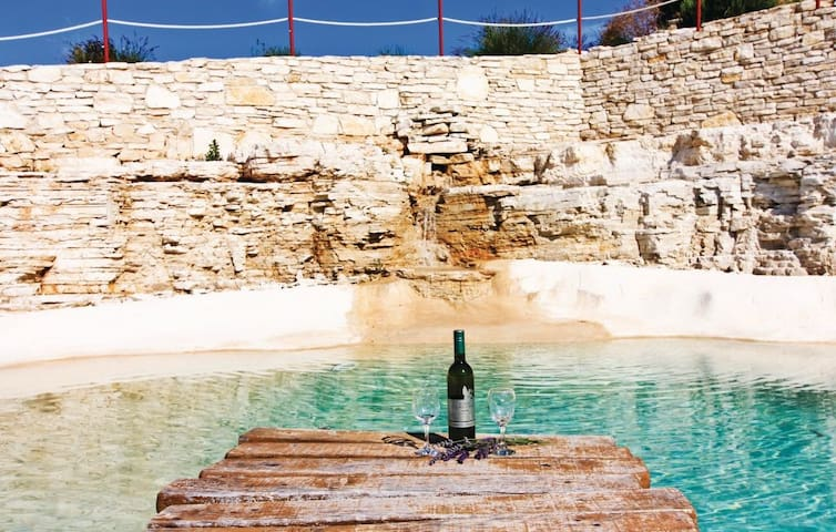 Villa Beata with a natural pool in the rock and cave in a huge garden of 25 000 m2, completely fenced