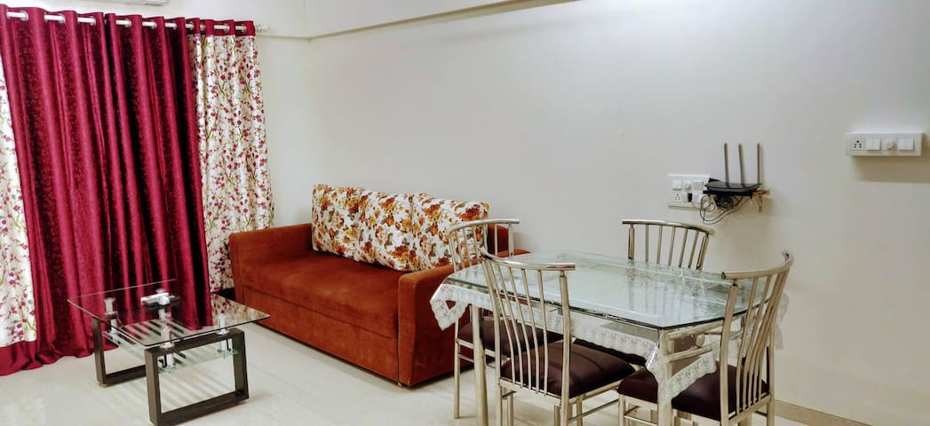 BLISS 23: Bright 1Bedroom +Livingroom+Kitchen 4Pax