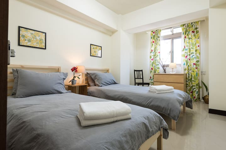 Private room in safe and vibrant Tonghua Area - Da'an District - Byt