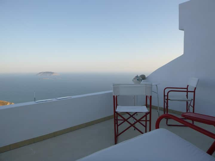 Vera's Studio with Panoramic Sea View and balcony